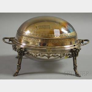 English Silver-plated Dome-top Warming Dish