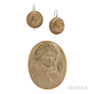 Antique Gold and Lava Cameo Suite