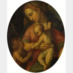 Italian School, 16th Century Style    The Madonna and Child with Saint John the Baptist