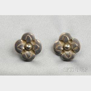 Sterling Silver Earrings, Georg Jensen