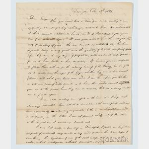 Letter from John Edwards to George W. William, Esq.