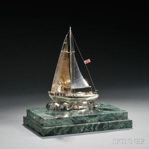 Wolfgang Schroth Sterling Silver Ship Model