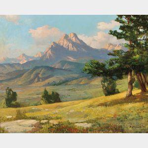 Alexander A. Dzigurski (American, 1911-1995)      Mountain Landscape