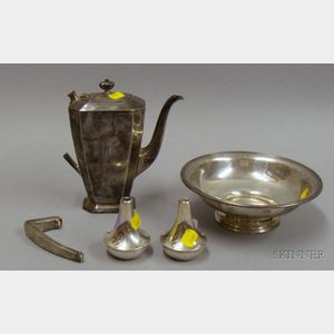 Four Sterling Silver Serving and Table Items
