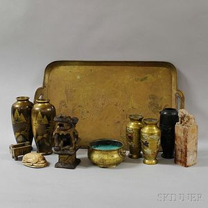Group of Metal and Stone Items