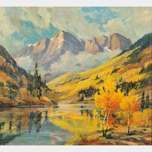 Carl Hoerman (American, 1885-1955)      Maroon Lake, Colorado