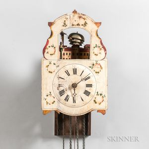 "German Quarter-striking ""Jacks and Bell"" Automaton Wall Clock"