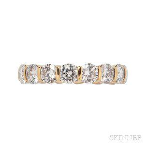 18kt Gold and Diamond Eternity Band, Tiffany & Co.