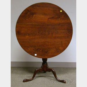 Chippendale-style Cherry Tilt-top Birdcage Tea Table.