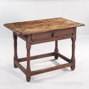 William and Mary Red-painted Tavern Table