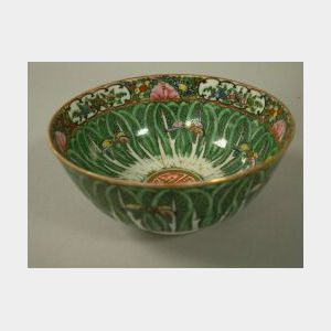 Small Chinese Export Porcelain Cabbage Leaf Pattern Bowl.