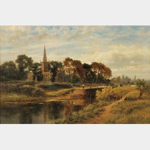 Robert Gallon (British, 1845-1925)      Navigating the Locks