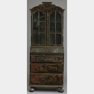Queen Anne Style Japanned Small Bookcase