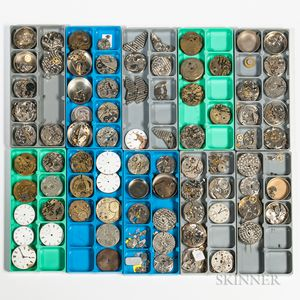 Collection of Hamilton and European Watch Movements and Parts