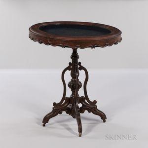 Rococo Revival Mahogany Vitrine Table