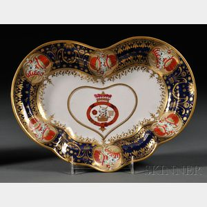 Chamberlain's Worcester Porcelain Heart-shaped Dish