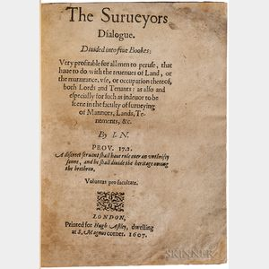 Norden, John (1548-1625?) The Surveyors Dialogue.