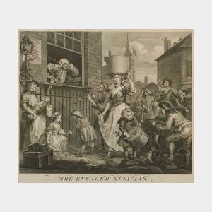 Lot of Four British-Related Prints Including Works after William Hogarth (British, 1607-1764) and Sir Joshua Reynolds (British, 1752-18