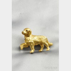 18kt Gold Gem-set Dog Brooch, Tiffany & Co.