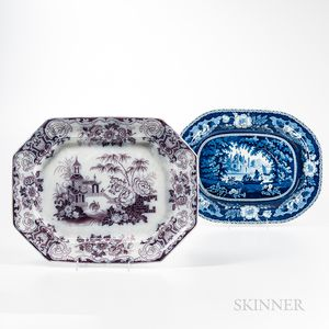Two Transfer-decorated Platters