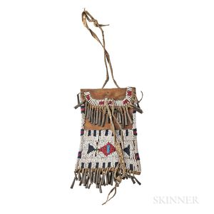 Plains Beaded Leather Strike-a-Lite Pouch