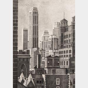 Alan Horton Crane (American, 1901-1969)      From a Brooklyn Window