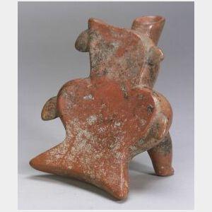 """Pre-Columbian Pottery """"Reclinatorio,"""""""