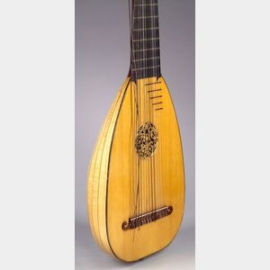 English Baroque Thirteen-course Lute, Thomass Goff and J.C. Cobby, London, 1955
