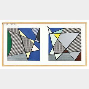 Roy Lichtenstein (American, 1923-1997)      Imperfect Diptych