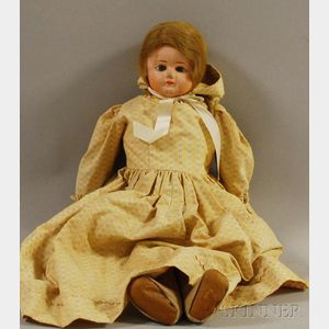 Large Composition Shoulder Head Doll