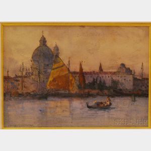 Giffard Hocart Lenfestey (British, 1872-1943)      Santa Maria della Salute, Venice