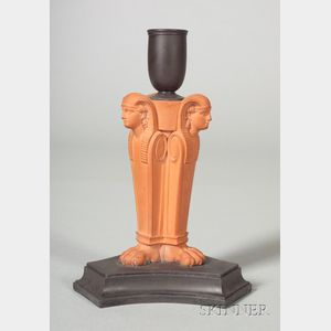 Wedgwood Egyptian Monoped Candlestick