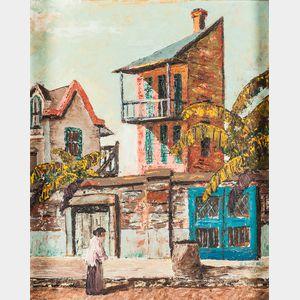 Jack Lucas (American, 20th Century)      On a Street in Bermuda.