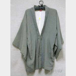 Japanese Silk Short Robe.