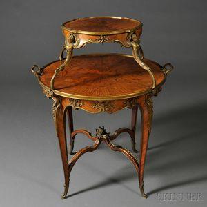 Louis XV-style Ormolu-mounted Two-tier Guéridon