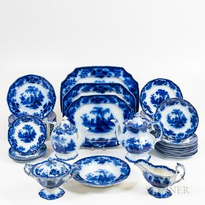 Group of Flow Blue China