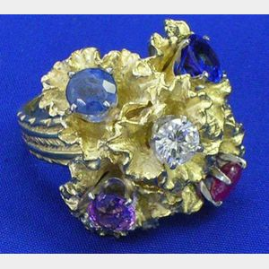 14kt Multi-Stone Fashion Ring.