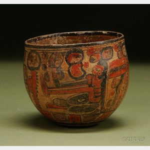 Pre-Columbian Polychrome Pottery Bowl