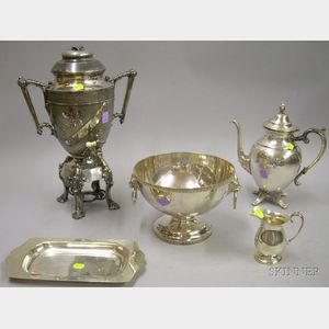 Five Silver Plated Serving Items