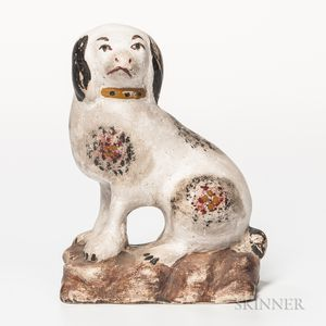 Spotted Chalkware Dog