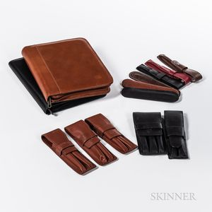 Group of Leather Pen Cases and Sleeves