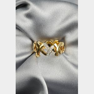 """18kt Gold and Diamond """"Love and Kisses"""" Band, Paloma Picasso, Tiffany & Co."""