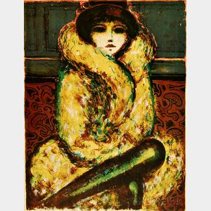 Jean-Pierre Cassigneul (French, b. 1935)      The Fur Wrap
