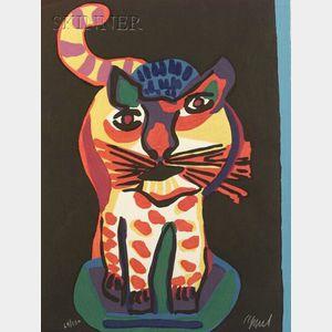 Karel Appel (Dutch, 1921-2006)    Tiger Cat