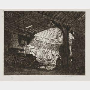Samuel V. Chamberlain (American, 1895-1975)      The Blacksmith Shop