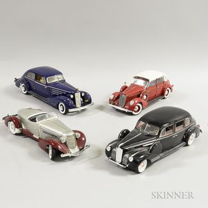 Four Detailed Diecast Model Cars