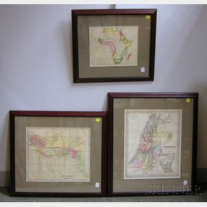 Five Miscellaneous Framed Maps