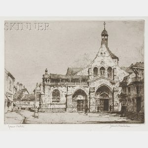 Samuel V. Chamberlain (American, 1895-1975)      Church of Saint Ayoul - Provins