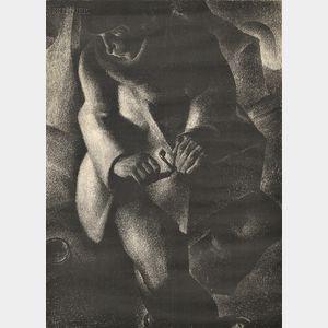 Antoine (Anto) Carte (Belgian, 1886-1954)      Organ Grinder.