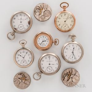 Nine Hamilton Watches and Watch Movements